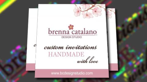 Custom Wedding Invitations and Stationery by Brenna Catalano Design Studio